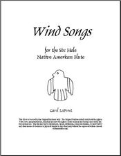 Native American Flute Song Book PDF File, Wind Songs FREE Shipping