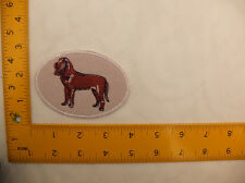 """EMBROIDERED Blood Hound in oval patch #9 Iron On / Sew On Patch approx 4""""(10cm)"""
