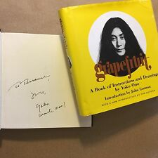Grapefruit by Yoko Ono (Signed, First Edition Thus, Hardcover in Jacket)