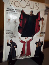 McCalls #P400 Sewing Pattern Adult Kids Costumes Angel Dracula Wizard Ghost