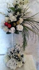 TABLE CENTERPIECES FOR WEDDINGS, BANQUETS, ETC. IVORY/WHITE/RED-GREEN APPLES, CL