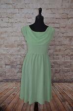 Modcloth Pas de Bourrée a Day Dress Mint NWOT Sz M Geode A-line Bateau neckline