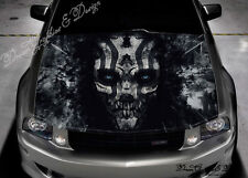 Evil Skull Full Color Graphics Adhesive Sticker Fit any Car Bonnet #232