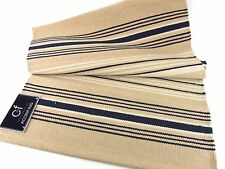 C F Enterprises French Blue Stripe Accent Runner 2x6 Washable Cotton Throw Rug