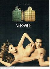 PUBLICITE ADVERTISING 116  2002  Versace Jeans Couture  parfums homme femme nus