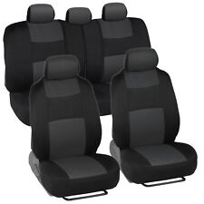 Car Seat Covers for Nissan Sentra 2 Tone Charcoal & Black w/ Split Bench