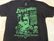 ZUVEMBIE Vince Ray T-SHIRT SM Living Dead Zombie Porno Queen Killer Rockabilly S