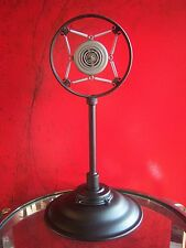 Vintage 1930's RARE Electro Voice Model 50 spring microphone w desk stand old