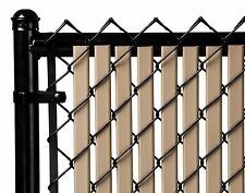 Chain Link Beige Double Wall (Tube) Privacy Slat For 3ft High Fence Bottom Lock