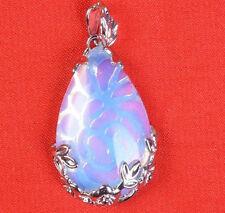 22X34MM Sri Lanka Moonstone Gemstones Teardrop Pendant Necklace AAA