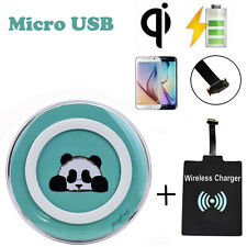QI Wireless Charger +Micro USB Sticker Charge Receiver for Android Cell Phones