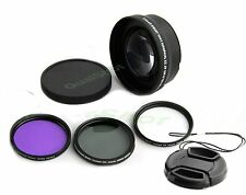 52mm Telephoto lens 2X + hood + UV, CPL filters + cap for Canon 1100D 700D 650D