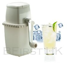 Plastic Manual Frozen Ice Cube Crusher Hand Machine for Cocktail Smoothies Drink