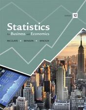 Statistics for Business and Economics by P. George Benson, James T. McClave...