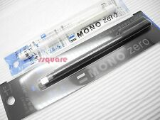 Tombow Mono Zero Rectangle Elastomer Eraser Pen +2 Eraser Refills, Black (Japan)
