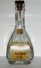 Mini Henry Vallet Licor De Prisco Apricot Bottle Mexico Nice for Decor.