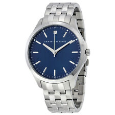 Armani Exchange Blue Dial Stainless Steel Mens Watch AX2166