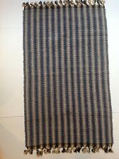 """Woven blue and yellow 23"""" X 41"""" throw rug"""