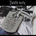 "Anime Cool Cosplay Death Note symbol ""L"" design double pendants necklace jewelry"