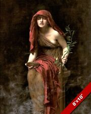 ORACLE PRIESTESS WOMAN TEMPLE OF APOLLO AT DELPHI PAINTING ART REAL CANVAS PRINT