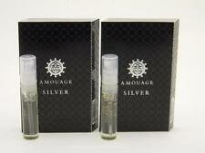 2 x Amouage SILVER MAN EDP Eau de Parfum 2ml Vial Spray New With Card