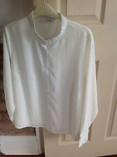 LADIES IVORY BLOUSE BY CLASSIC SIZE XL