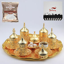 27 Pc Ottoman Turkish Greek Arabic Coffee Espresso Serving Cup Saucer (Sultan)
