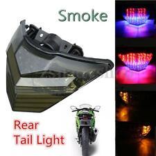 Tail Turn Signal Integrated LED Light Smoke For KAWASAKI Ninja 250 300 13-15 12V