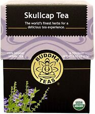 Skullcap Tea, Buddha Teas, 18 tea bag 1 pack