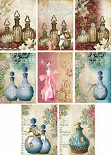 Perfume Bottle Style ~ Card Making Toppers / Scrapbooking / Crafting