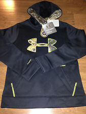 NWT youth Boys YMD medium UNDER ARMOUR hooded sweatshirt STORM1 hoodie camo COLD