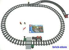 LEGO® Eisenbahn (60051) Schienenkreis mit Weiche/links Prellbock und Bahnhof