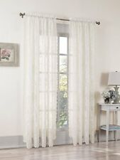 No. 918 Alison Sheer Lace Rod Pocket Curtain Panel, 58 x 84 Inch, Ivory