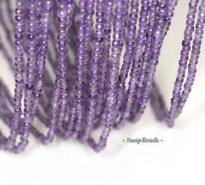 3MM ROYAL AMETHYST GEMSTONE GRD AAA DEEP PURPLE FACETED ROUND LOOSE BEADS 15.5""