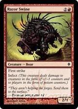 RAZOR SWINE New Phyrexia MTG Red Creature — Boar Com