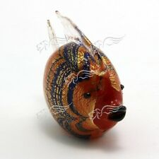 Sculpture Collection Blowfish Striped Murano Glass Made in Italy