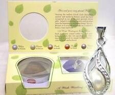 Christmas Gift SALE One box helix(drop) pendant Wish Pearl Necklace Set-wh120