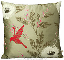 Harlequin sephora designer tissu fuchsia dove silk cushion pillow cover