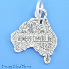 AUSTRALIA COUNTRY CONTINENT MAP .925 Solid Sterling Silver Charm Australian