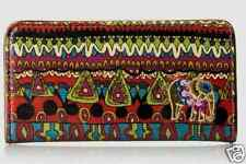 "NWT Sakroots Slim Wallet Cherry One World Coated Canvas New 6.5""x3.5"" SHP IN'TL"