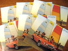 1977 Ford Pinto Sales Brochure LOT (6) pcs, Pony Runabout Wagon Squire Rallye