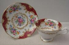 CANTERBURY Royal Albert FOOTED TEA CUP & SAUCER Bone China Made in England