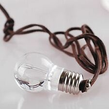Type Leather Chain Birthday LED Light Pendant Gift Bulb Torch Jewelry Necklace