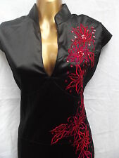 Oriental Chinese Black Red PARTY dress size 12
