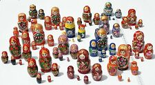 TRADITIONAL Russian Matryoshka Hand Painted Nesting Dolls 1 set Assorted color
