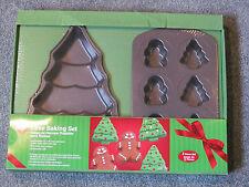 NEW WILTON HOLIDAY CAKE/CUPCAKE BAKING PAN SET CHRISTMAS TREE & GINGERBREAD MAN