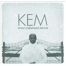 What Christmas Means [Deluxe Edition] by Kem (CD, Oct-2013, Motown)