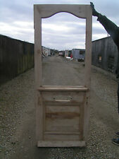 XNGL62a (29 1/2 x 76 3/4) External period pine reclaimed old front door to glaze