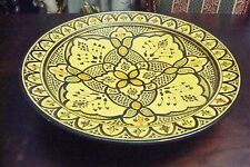 Moroccan pottery large centerpiece, yellow and black [4]
