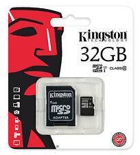 Kingston Micro SDHC Karte 32GB Speicherkarte Class 10 inkl. SDHC SD Card Adapter